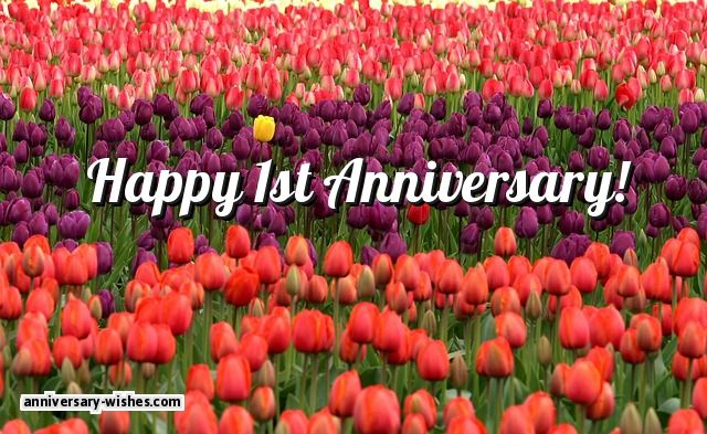 First Anniversary Wishes - Happy 1st Anniversary Messages & Quotes
